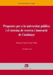Cover for Propostes per a la universitat pública i el sistema de recerca i innovació de Catalunya