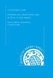 Cover for Investidura com a doctor honoris causa de l'Excm. Sr. Amin Maalouf