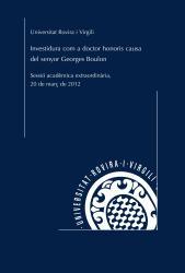 Cover for Investidura com a doctor honoris causa de l'Excm. Sr. Georges Boulon