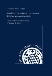 Cover for Investidura com a doctora honoris causa de l'Excma. Sra. Margaret Joan Geller