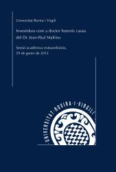 Cover for Investidura com a doctor honoris causa de l'Excm. Sr. Jean-Paul Malrieu