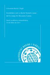 Cover for Investidura com a doctor honoris causa de l'Excm. Sr. Josep M. Recasens Comes