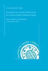 Cover for Investidura com a doctora honoris causa de l'Excma. Sra. Gayatri Chakravorty Spivak