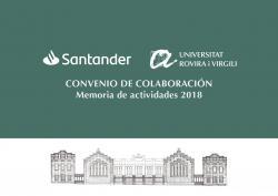 Cover for Memoria de actividades 2018: Convenio de colaboración URV-Santander