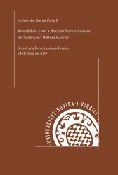 Cover for Investidura com a doctora honoris causa de la senyora Bettina Kadner