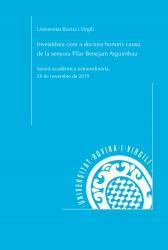 Cover for Investidura com a doctora honoris causa de la senyora Pilar Benejam Arguimbau