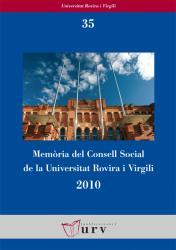 Cover for Memòria del Consell Social de la URV 2010